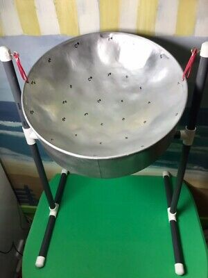 Steel Drum Package w Stand, Sticks, & Song Booklet - silver paint *B-stock Sale*