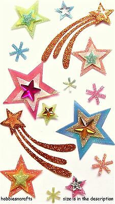 Ek Success Jolee's Boutique 3-D Glitter Gemstone Stickers - Shooting Stars