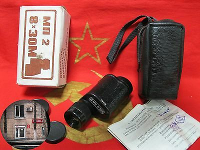 NEW! Vintage Soviet Russian MONOCULAR MP2 8X30 made in 1992 Cover Box Manual