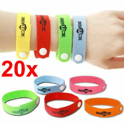 20x Anti Mosquito Repellent Wrist Band Adjustable Camping Hiking Travel Fishing