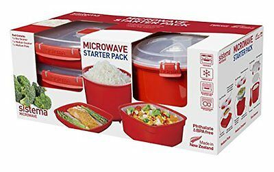 Sistema SI1130 Starter Pack Micro-Ondes Plastique Rouge 45 x 35 x 25 cm