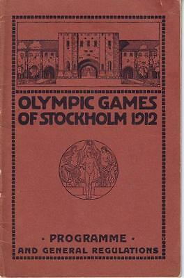 Olympic programme 1912 Sweden / Germany England Russia Netherlands Scotland