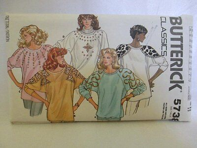 Butterick Sewing Pattern #5738 Size all sizes included Misses Top