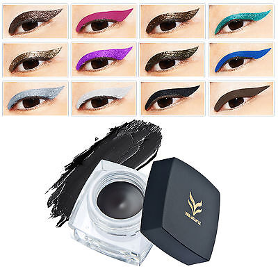 Pro Waterproof Eye Liner Makeup Black Liquid Eyeliner Shadow Gel Makeup