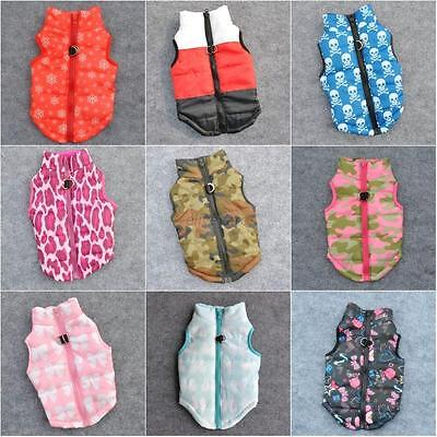 Winter Pet Small Dogs Soft Warm Padded Vest Harness Puppy Coat Apparel Clothes