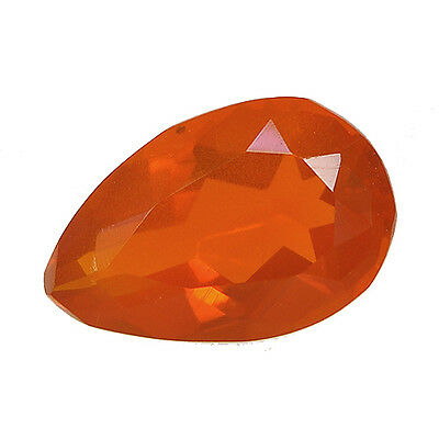 1.66Cts Natural Orange Mexican Fire Opal Nice Colour Gemstone Pear