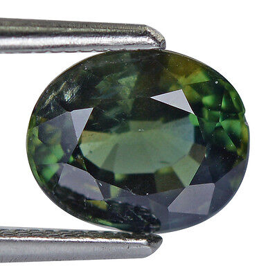 1.31Cts Natural Sapphire Unheated Blue Green Colour Oval Gemstone