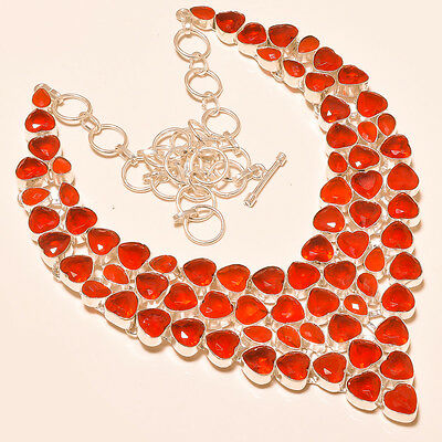 """Wonderful Faceted Mozambique Garnet - 925 Silver Jewelry Necklace 18"""""""