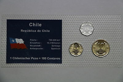 Chile Sealed Coin Set A51 Cg32