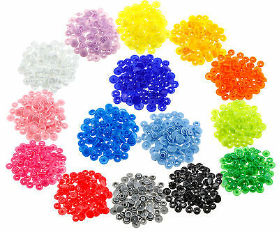 300PCS 15 color 20(T5) Size Snaps Resin Plastic Poppers Button Craft Fabric DIY
