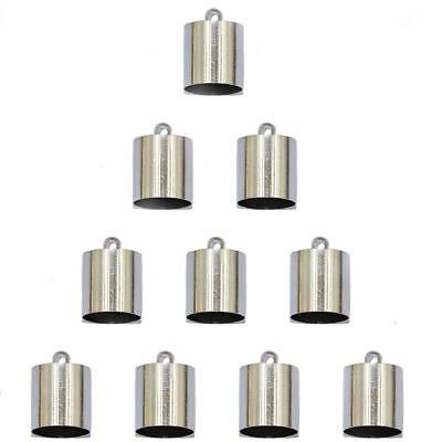 10pcs Brass End Bead Cap Jewelry Necklace Findings Making Craft Silver