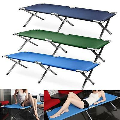 Portable Military Folding Bed Cot Sleeping Camping Hiking Guest Travel Outdoor