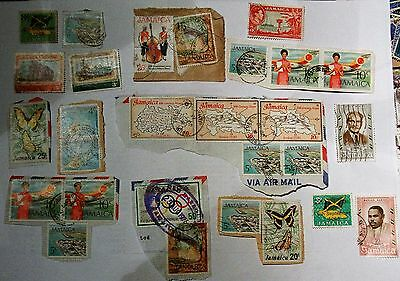 Job Lot Collection Old Vintage Jamaica Stamps