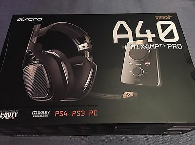 Astro A40-MIXAMP-TR Black Headband Headset for PC PS4 PS3
