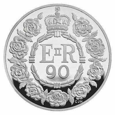 UK 2016 Royal Mint £5 FIVE POUND COIN QUEEN ELIZABETH II 90TH BIRTHDAY - UK