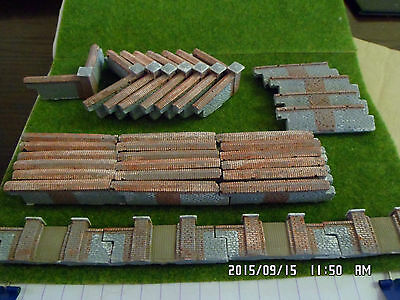 oo scale train set railway layout 34 pieces garden walling