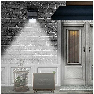UK Solar Panel Powered Motion Sensor Lamp Outdoor Light Security 20 LED Yard New