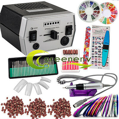 Professional Electric Nail File Drill Manicure Pedicure Machine Tool Set Kit Bit