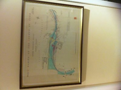 """Barnsley Stations Map MS&L Railway Yorkshire Framed 26"""" x 20""""  Collect from TW1"""