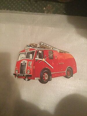 fire engine clock wooden