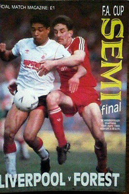 Liverpool V Notts Forest 15/4/1989 Fa Cup Semi Final, Hillsborough Disaster