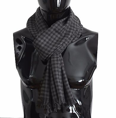 Dolce and Gabbana Grey Cashmere Scarf for Men - RRP €780