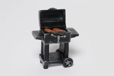 Miniature Dollhouse FAIRY GARDEN - Grilling Steak - Accessories
