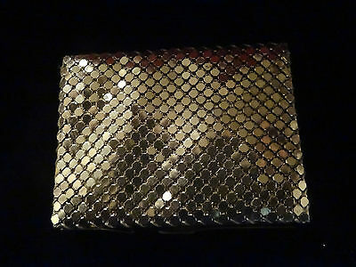 Vintage Glomesh gold mesh key box container