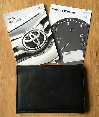 Toyota Aygo Owners Manual Handbook Pack With Wallet +Service 2014-2015 Ref3479