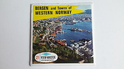 VIEW-MASTER PACKET SET 3-D BERGEN and Towns of WESTERN NORWAY