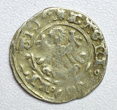 Lovely Medieval Hammered Silver Coin Depicting Knight On Horse And Eagle - Z30