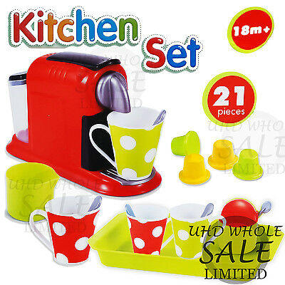 Educational Smulational Coffee Maker Kitchen Children Kids Pretend Play Toy Gift