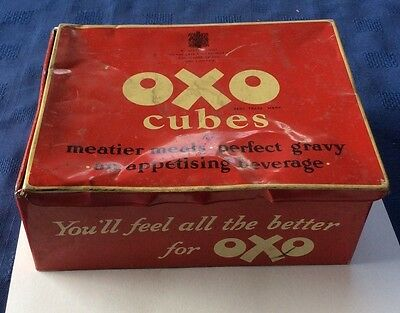 Old Oxo Tin/Lunch Box with original lid