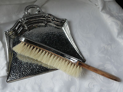 vintage silver plate crumb tray & brush by Celtic Quality Plate