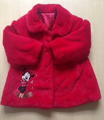 Girls Minnie Mouse Coat Age 18-24 Months
