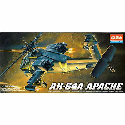 Academy 1/72 Plastic Model Kits AH-64A APACHE Helicopters military New 12488