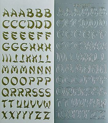 Oriental Uppercase ALPHABETS Letters PEEL OFF STICKERS Alphabet Capitals