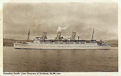 RP Card CANADIAN PACIFIC LINE R.M.S. EMPRESS OF SCOTLAND - Unposted