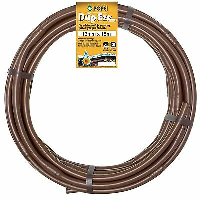 Pope DRIP EZE IRRIGATION TUBE 2 Outlet Holes AUS Brand- 13mm x15, 30, 50 Or 100m