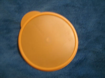 Tupperware Flat Out 4 Cup Orange Lid 5455A-6