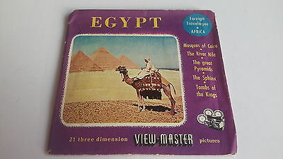 Viewmaster three reel set 3d EGYPT A3300 Foreign Travelogue