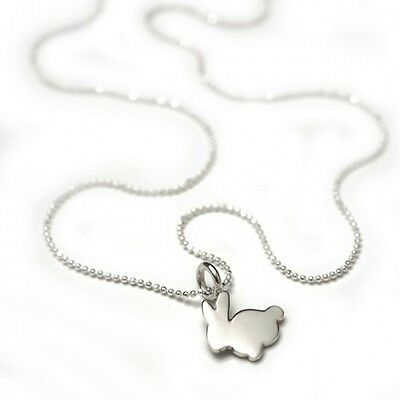 sterling silver neckalce little bunny - christening, baby shower, baptism gift