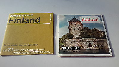 Viewmaster three reel set 3d FINLAND Sawyers Nations of the World