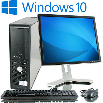 Full Dell/hp Dual Core Desktop Tower Pc & Tft Computer With Windows 10 & & 4Gb
