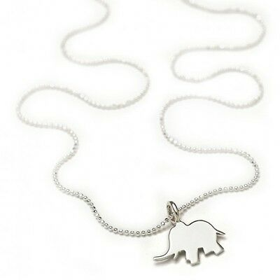 sterling silver neckalce little elephant - christening baby shower baptism gift