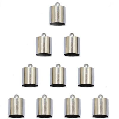 10pcs Brass End Bead Cap for 9mm 10mm Cord Jewelry Necklace Making Silver