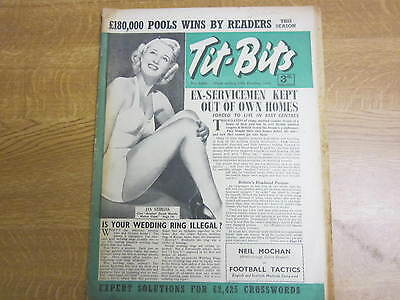 October 13th 1951, TIT-BITS, Jan Sterling, Neil Mochan, Piper Laurie, Nadia Gray