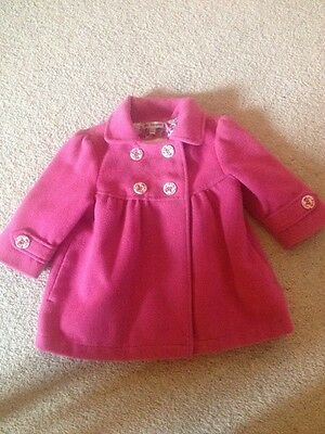 Marks And Spencer Autograph Girls Pink Coat Age 12 - 18 Months