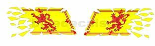 2x RIPPING TRADITIONAL SCOTTISH FLAG DECALS / STICKERS