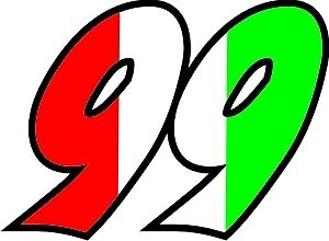 Italian Flag Race Numbers Decals - 3 Sets - Your Number